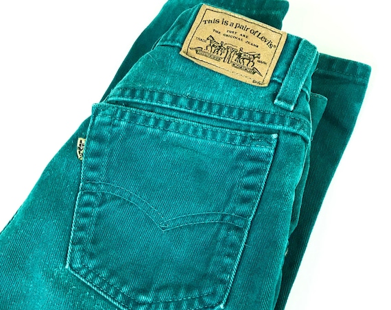 Levi's 901 Vintage Teal Jeans / Size 23