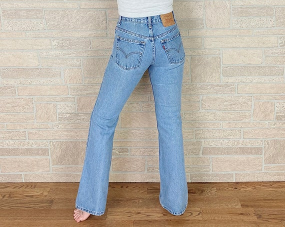 90's Levi's 517 Mid Rise Bootcut Jeans / Size 23 24