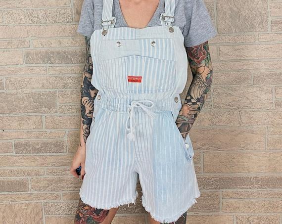 Gitano Striped Overalls Shorts