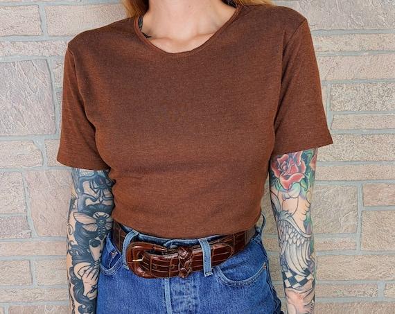 Gitano 90's Soft Cotton Terracotta Minimalist Basic T-Shirt