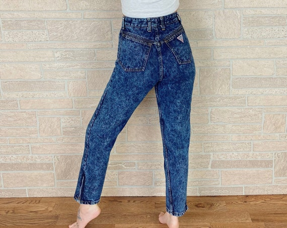 80's Guess High Rise Slim Fit Jeans / Size 26 Petite