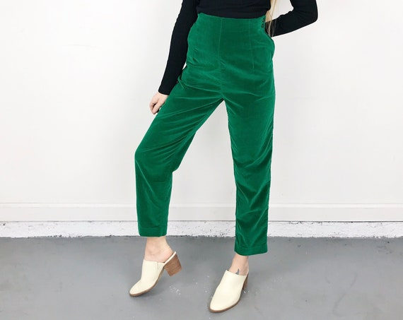 60's Green Shipmates Trousers / Size 27 28
