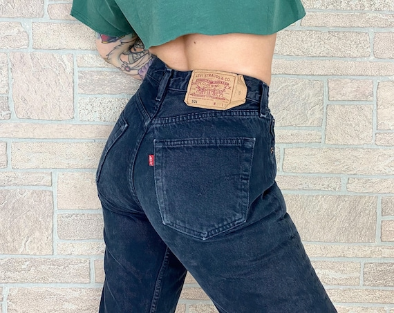 Levi's 501 Faded Black Jeans / Size 28