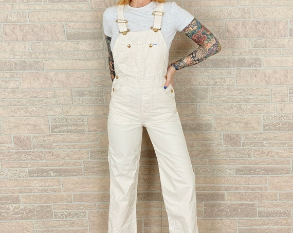 1960's LEE Oatmeal Dungarees Overalls / Size XS