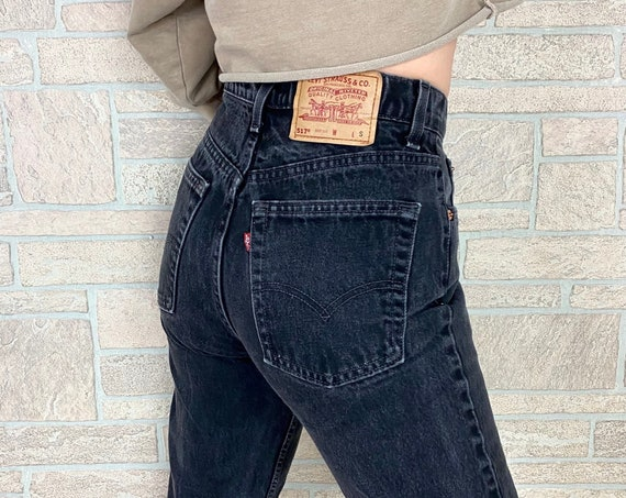 Levi's 517 Faded Black Jeans / Size 27 28