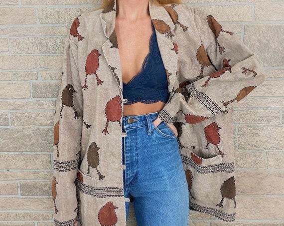 Reversible Chick Print Chore Coat