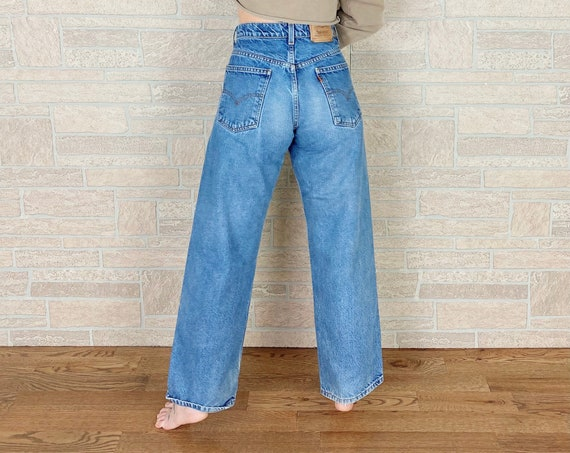 Levi's 565 Orange Tab Wide Leg Jeans / Size 27
