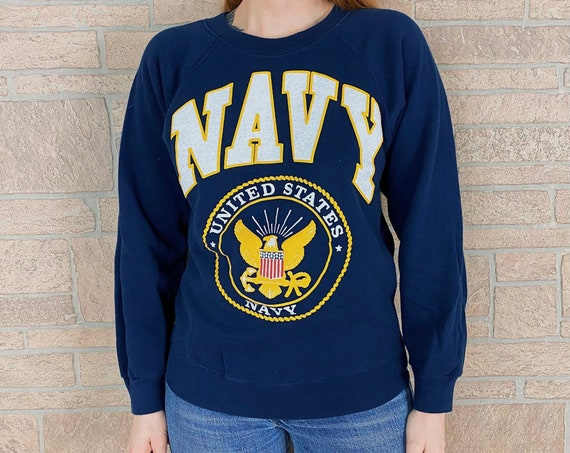 80's Vintage United States Navy Pullover Sweatshirt