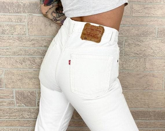 Levi's 501 White Jeans / Size 26