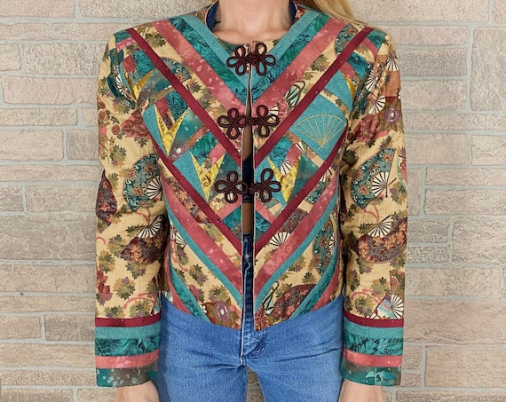 Vintage Upcycled Quilt Patchwork Jacket