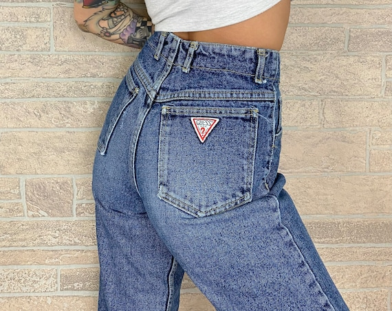 80's Guess Button Fly Jeans / Size 26 27