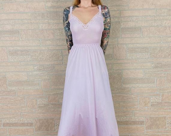 Vintage Vanity Fair Lavender Lingerie Slip Dress