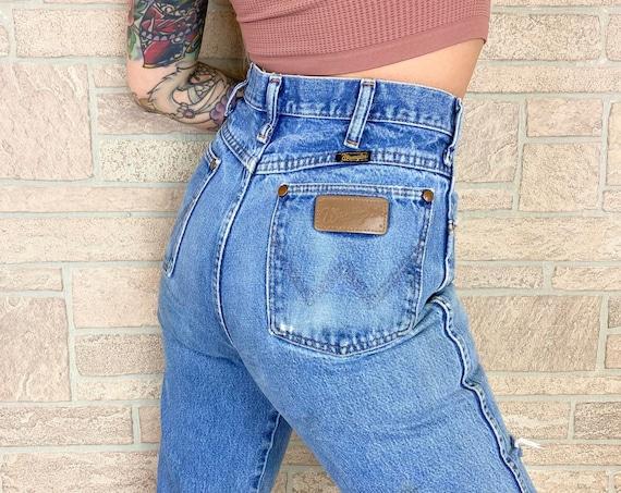 Wrangler Distressed Worn Western Jeans / Size 27