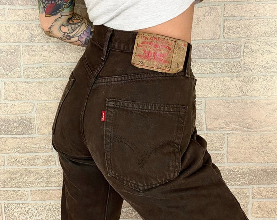 Levi's 501 Brown Jeans / Size 28