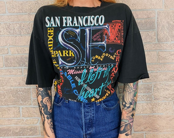 1990 San Francisco Vintage Faded Travel T-Shirt