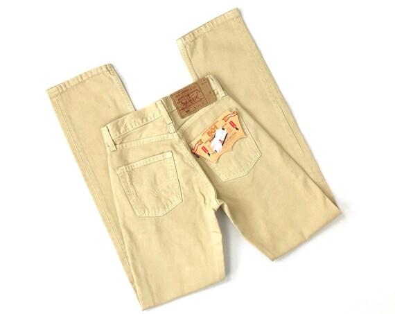 Levi's 501 Deadstock Beige Jeans / Size XXS 23