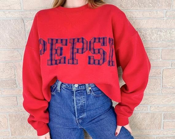 PEPSI Cola Vintage Pullover Cropped Sweatshirt