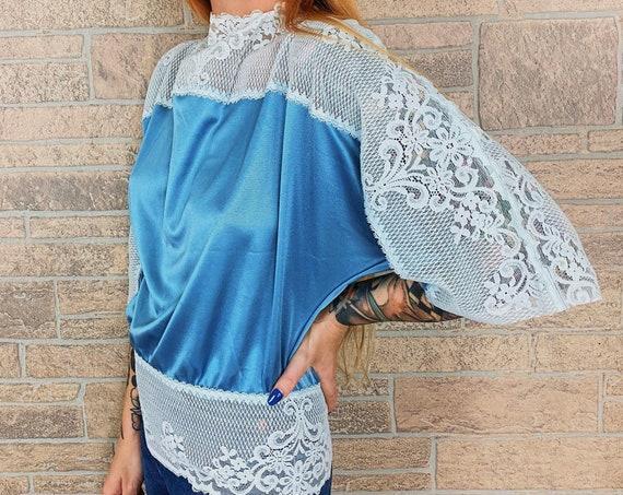 Vintage Bohemian Draped Lace Blouse