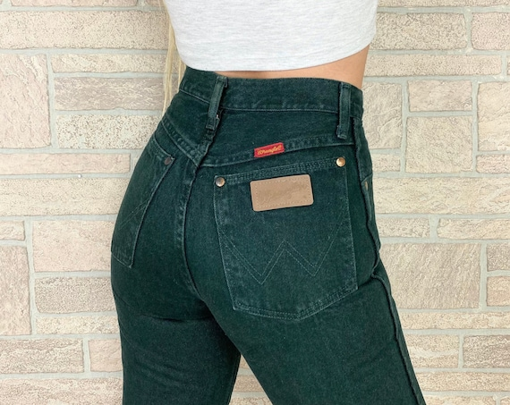 Wrangler Forest Green Western Jeans / Size 24