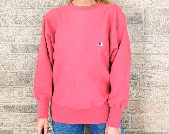 Champion Reverse Weave Pink Pullover Sweatshirt