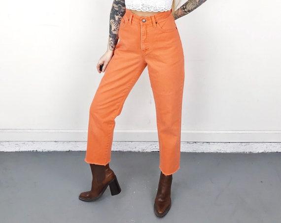 Express Vintage Orange Jeans / Size 25 26