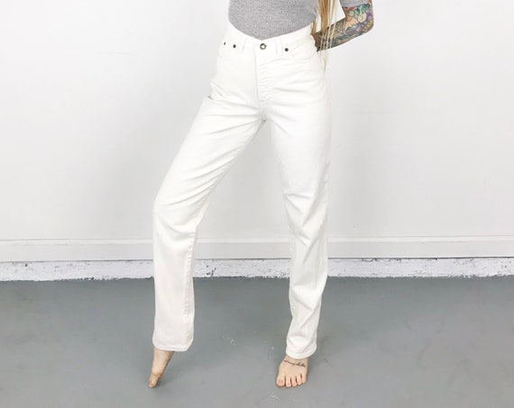 Express White 90's Jeans / 26 27