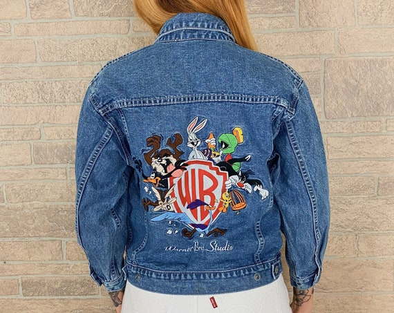 90's Looney Tunes Embroidered Denim Jacket