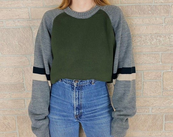 Oversized Y2K Grunge Knit Pullover Sweater