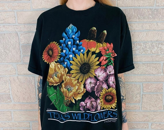 90's Texas Wildflowers Vintage Tee