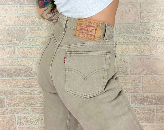 Levi's 501 Beige Olive Jeans / Size 27