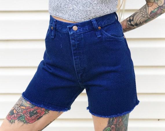 Wrangler Indigo Blue Cut Off Shorts / Size 30