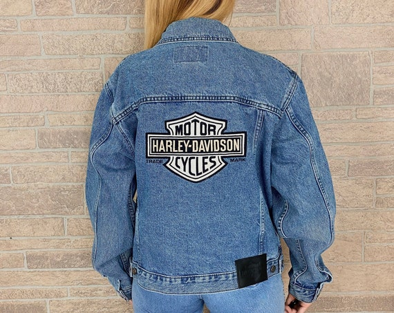 90's Harley Davidson Denim Jacket