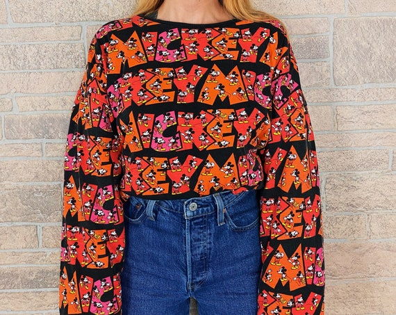 80's Mickey & Co Reversible Pullover Sweater