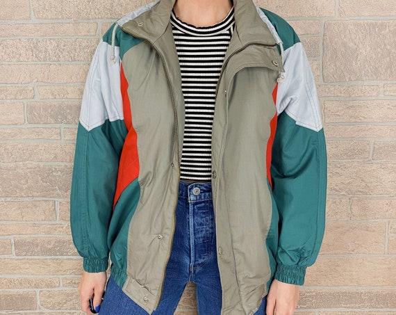 Vintage Colorblock Puffer Jacket
