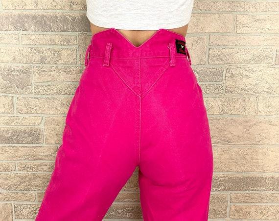 Vintage Western Hot Pink Jeans / Size 24