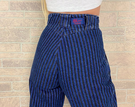 Panhandle Slim Pinstriped Jeans / Size 22 23