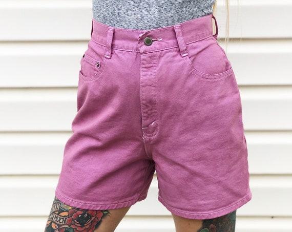 Vintage Dyed Mauve High Rise Shorts / Size 25
