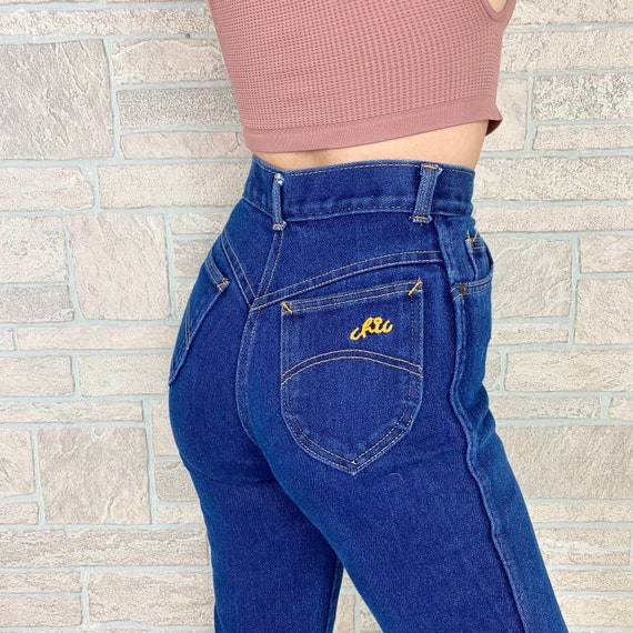 70's CHIC h.i.s. Comfort Stretch High Rise Jeans / Size 23 24 XS