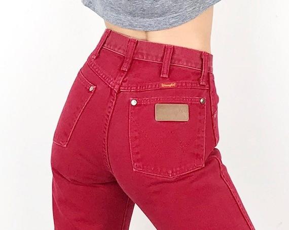 Wrangler Red Vintage Jeans / Size 25