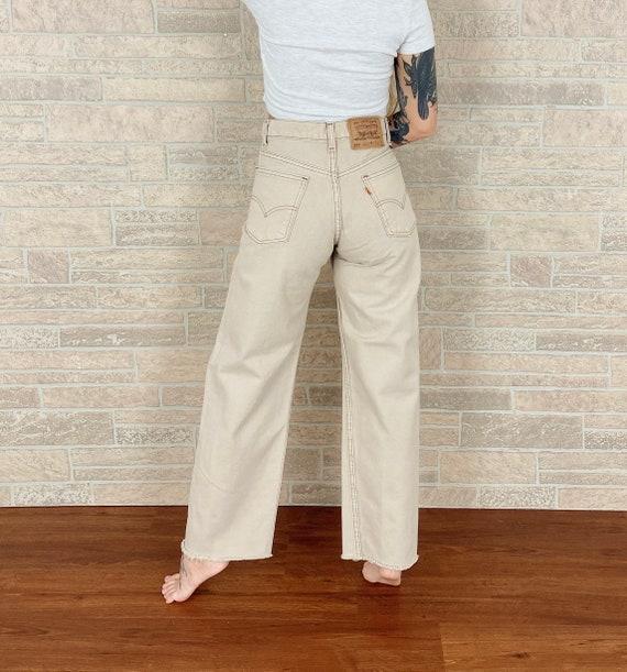 Levi's 555 Beige Loose Fit Jeans / Size 30 31