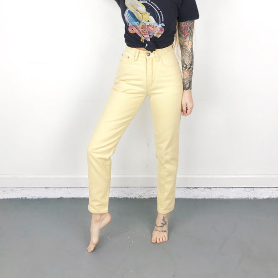 Vintage Limited Yellow Jeans / Size 23