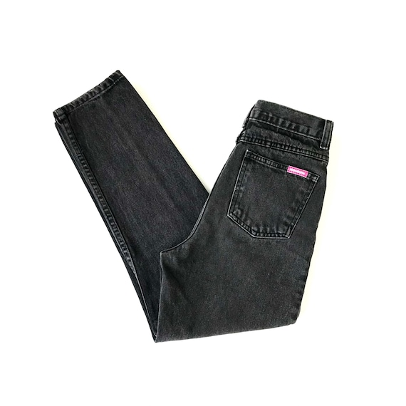 Bonjour Faded Black High Waisted Jeans / Size 22 23