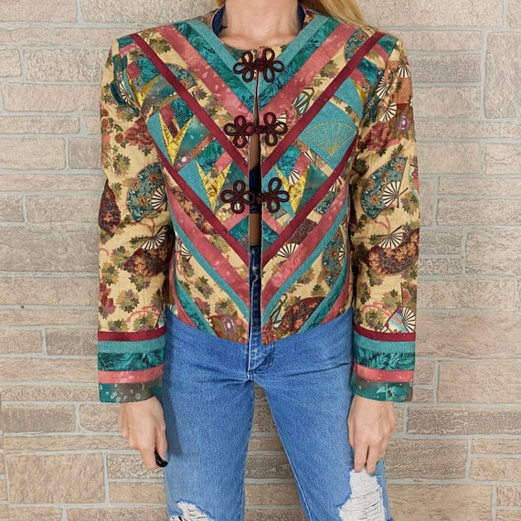 Vintage Upcycled Quilt Patchwork Jacket