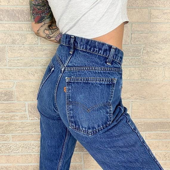 70's Levi's 505 Orange Tab Jeans / Size 30