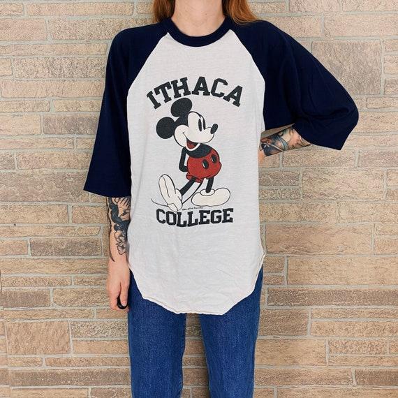 70's Mickey Ithaca College Raglan Tee T-Shirt