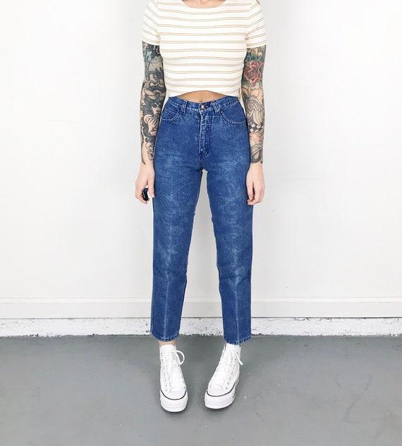 XXS Vintage Printed Jeans / Size 22 - image 5
