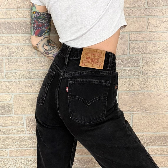 Levi's 512 Black Jeans / Size 25 26