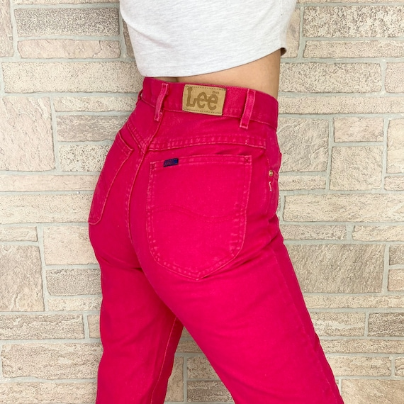 Lee Fuchsia Pink High Waisted Jeans / Size 26