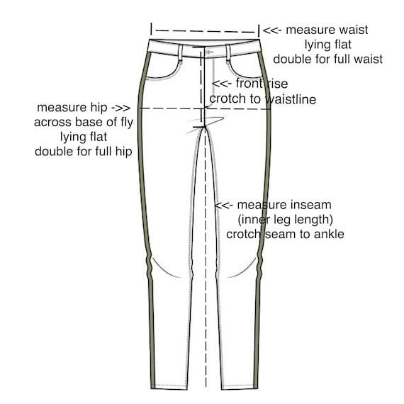 XXS Vintage Printed Jeans / Size 22 - image 9