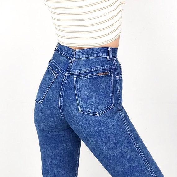 XXS Vintage Printed Jeans / Size 22 - image 4
